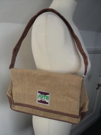 Jute Rebel Rebel Hand Bag - Beige