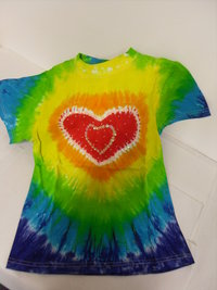 Childrens Tie Dye T-shirt-L