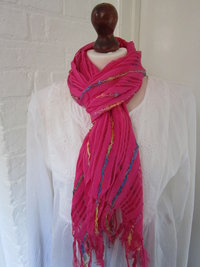 Striped Scarf- Pink