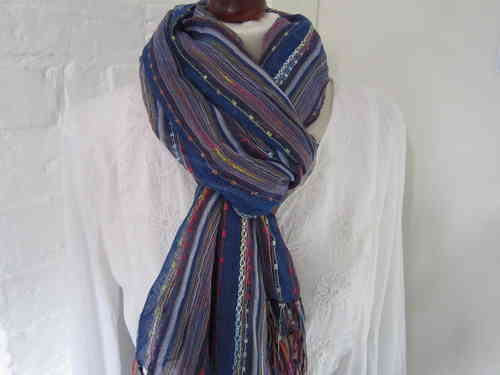 Knotted Scarf- Blue
