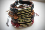 Leather Urban Tribe Bracelet - Believe