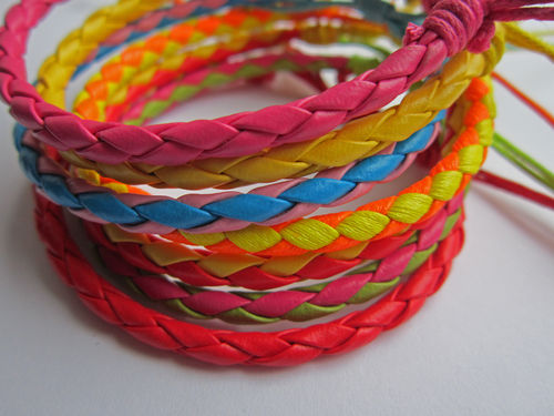 Leather Friendship Bracelet - various Colours