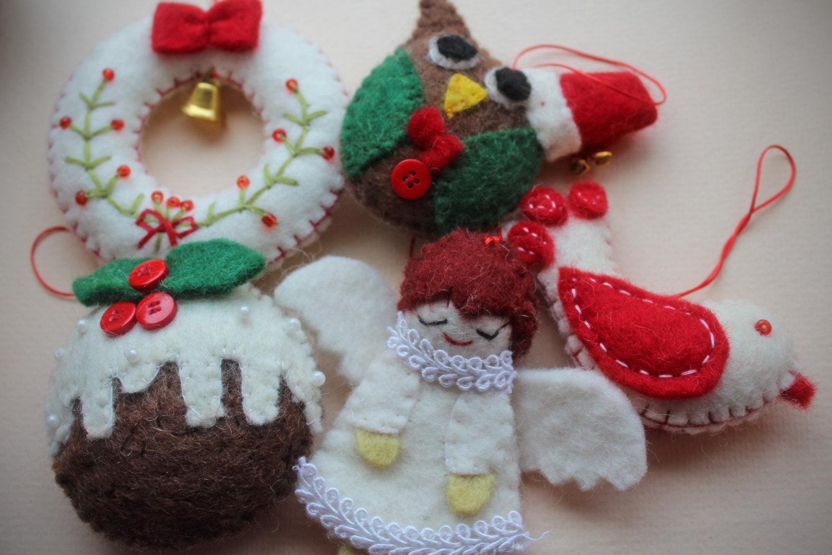Felt Christmas Decorations Uk.Felt Christmas Decorations