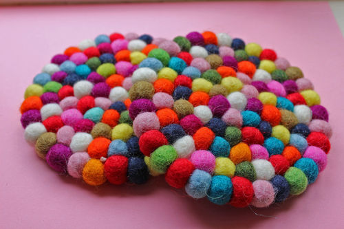 Felted Ball Coaster