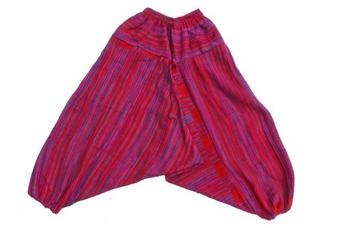 Fleece Ali Baba Harem Trousers - Red