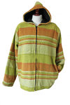 Striped Cotton Jacket - Lime  L