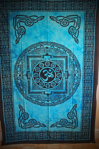 Om Wall Hanging or Throw - Single - Various Colours