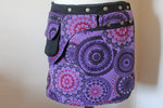 Fleece wrap skirt - Lilac