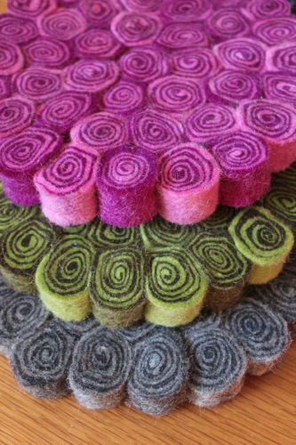 Felted Spiral Hotpad