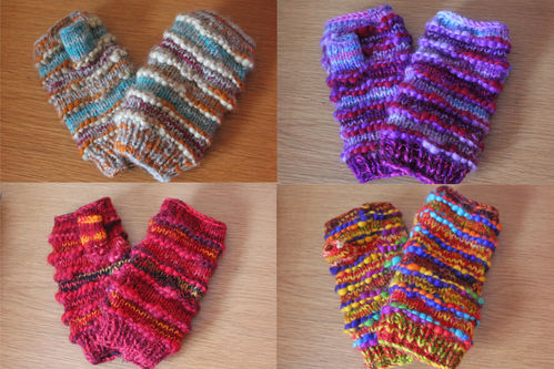 Fleece lined Woollen Wrist Warmers - Various colours