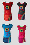 Short Sleeved Rainbow Dress-Various Colours