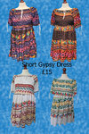 Short Gypsy Dress - Various Colours