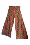 Red Cotton Flare Trousers