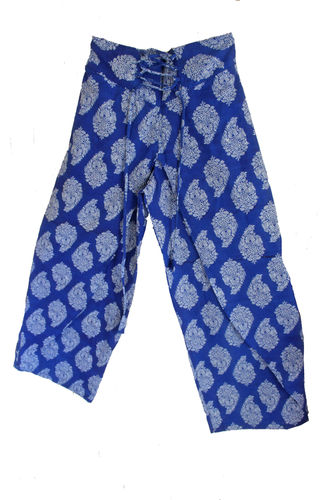 Blue Fake Fisherman Trousers