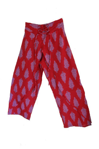 Red Fake Fisherman Trousers