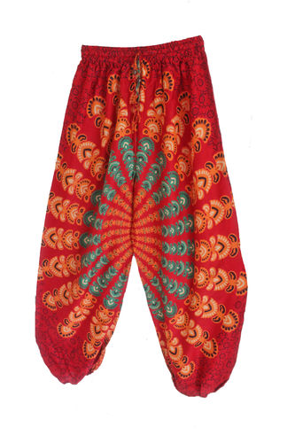 Red Mandala Harem Pants
