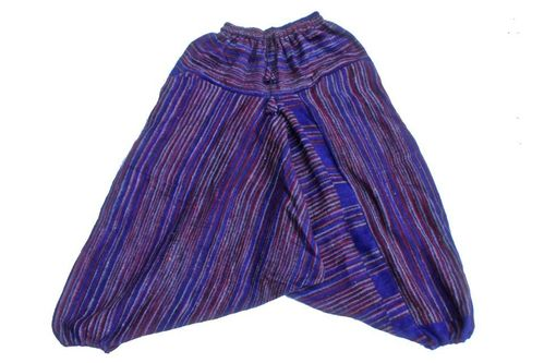 Fleece Ali Baba Harem Trousers - Purple