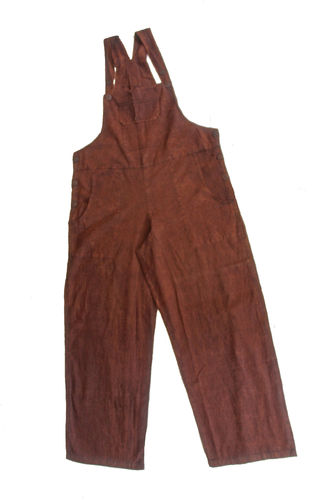 Brown Cotton Dungarees - M/L