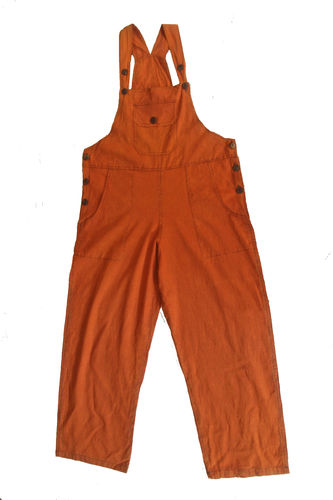 Orange Cotton Dungarees - XL