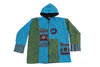 Fleece Lined Jacket with Circles - Blue
