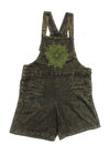 Mandala Dungaree Shorts- Green